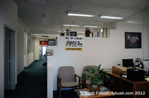 The office area downstairs