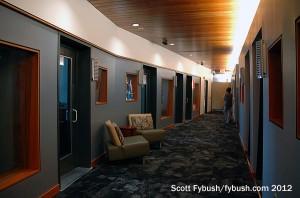 Hubbard's studio hallway