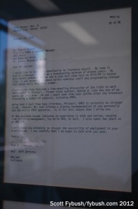 A letter from Rush