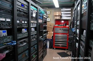 Clear Channel rack room