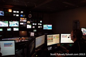 Adam at work in the WCCO-TV control room