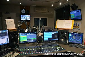 CHUM-FM from the console...
