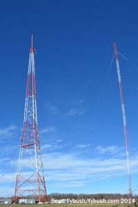 WGNR towers, old and new