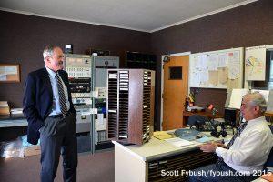 Jack Scott in the WENT studio