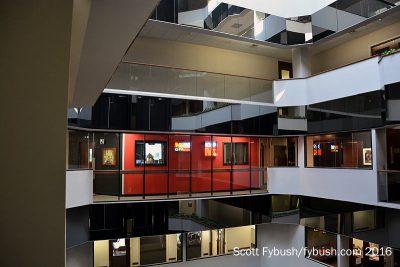 Saga's office park lobby