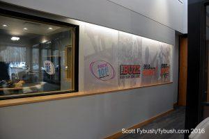 WRAL-FM studio and lobby