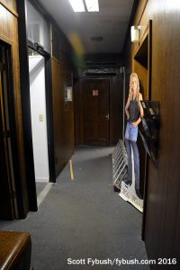 Old WRNS studio hallway