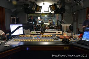 KLOS morning show control room