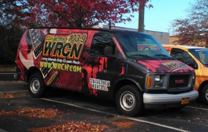 WRCN's van, the day after (photo: Mike Erickson)