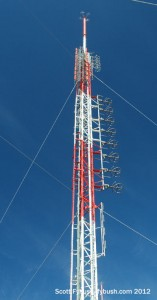 The KFMB-TV/FM tower